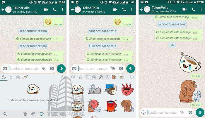 imagen Stickers en whatsapp