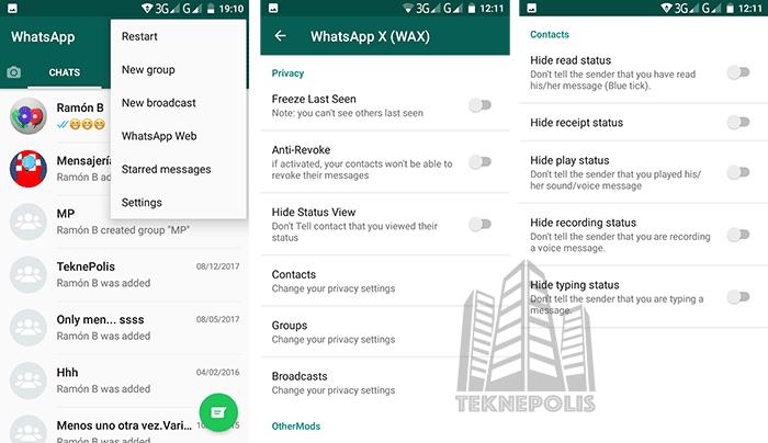 WhatsApp X Privacidad