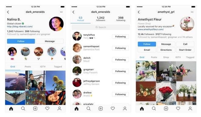 Instagram rediseña el perfil de usuario