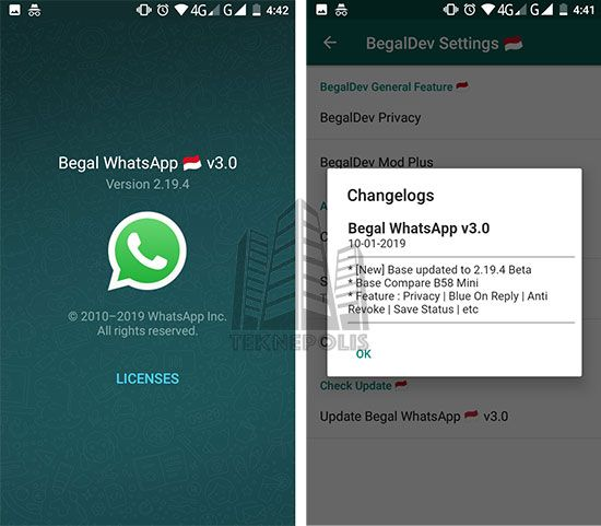 Descargar WhatsApp Begal