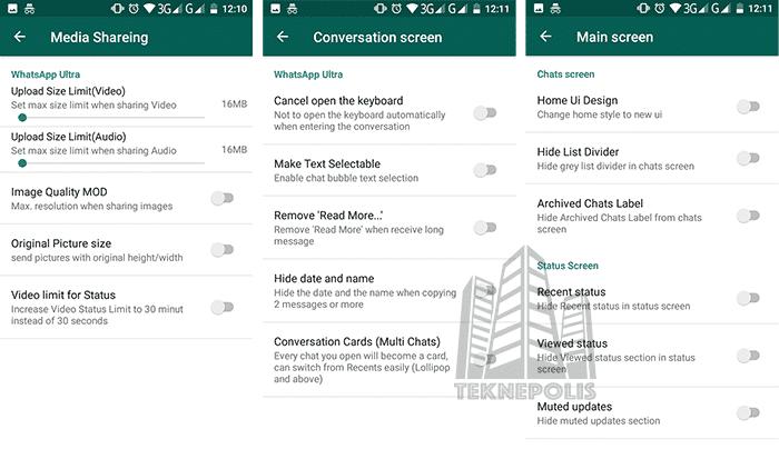 Novedades en WhatsApp Ultra 1.20