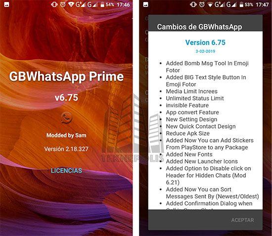 GBWhatsApp Transparente Prime 6.75