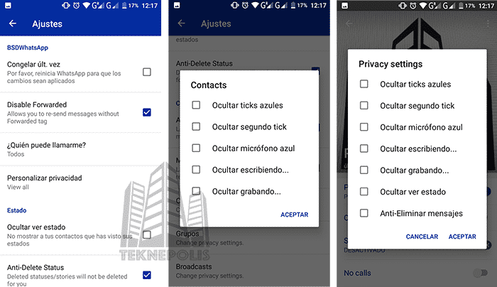 Privacidad en BSDWhatsApp