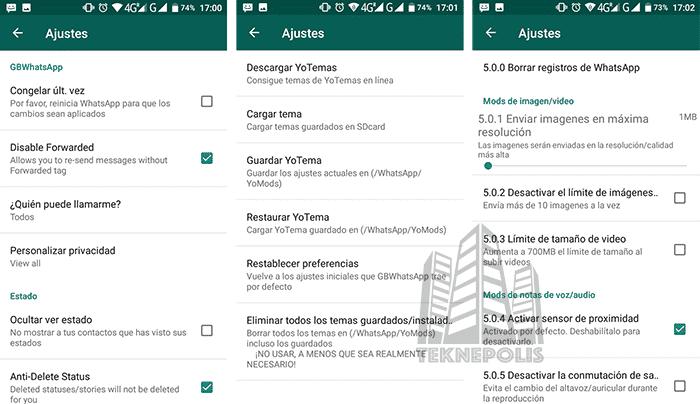 Características principales de WhatsApp Plus JiMODs