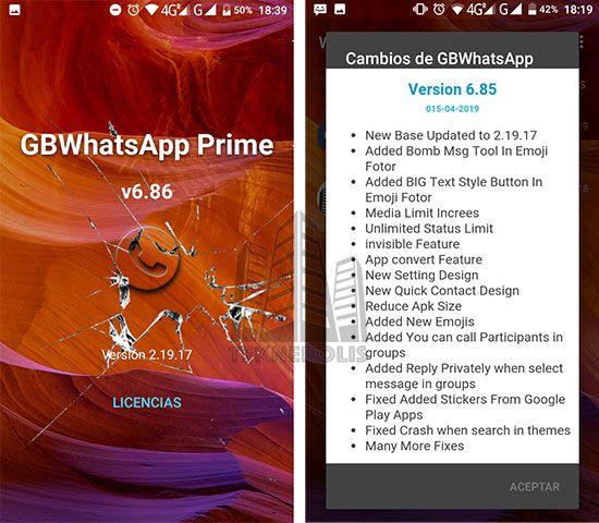 GBWhatsApp Transparente Prime 6.86