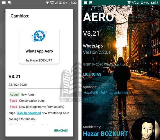 WhatsApp Aero 8.21