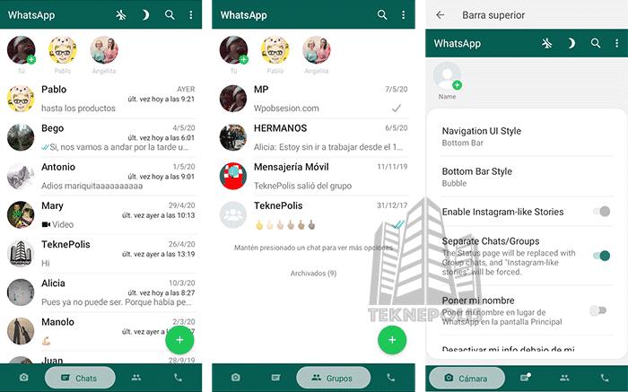 novedades en Fouad WhatsApp 8.30