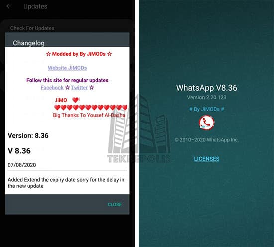 WhatsApp PLUS JiMODs 8.36