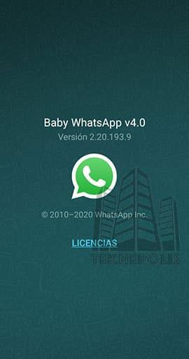 imagen de la última versión de Baby WhatsApp 4.0